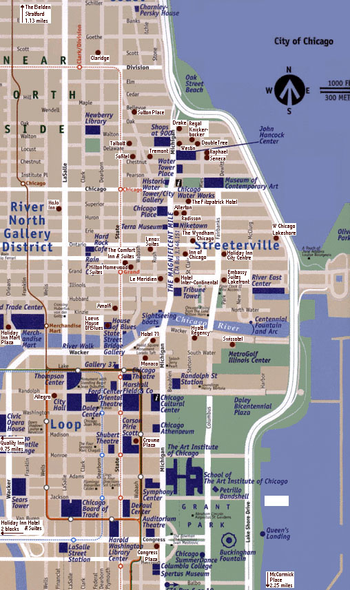 downtown chicago maps get domain pictures getdomainvids – Downtown Chicago Tourist Map